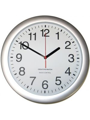 Office Clock with Radio Controlled Accuracy and Clear Dial | 36020-B