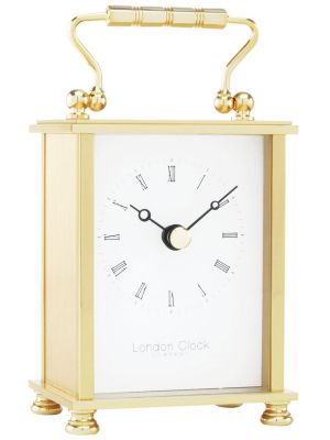 Real Brass Carriage Clock in Presentation Case | 02051