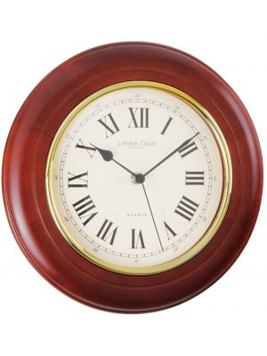 Traditional Wall Clock with Walnut Finish Case | 22247