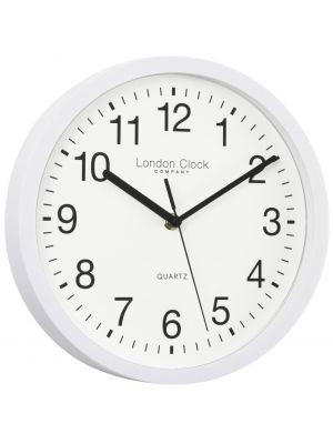White Quartz Office Clock with Silent Sweep Second Hand | 24182