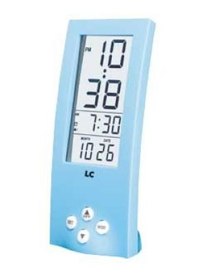 Tall Blue Digital Alarm Clock with See Through Display | 255/4420