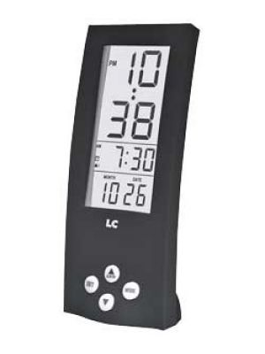 Tall Black Digital Alarm Clock with See Through Display | 255/4396