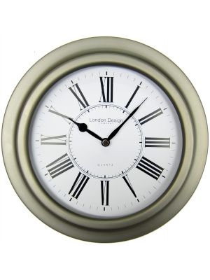 Porthole Style Wall Clock with Gun Metal Colour Case | 20249