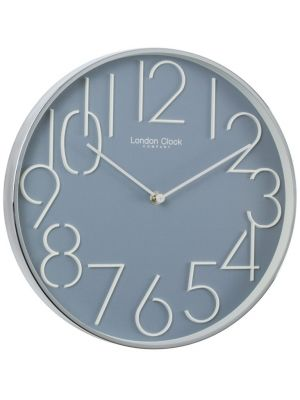 Grey Blue Contemporary Office Wall Clock | 20434