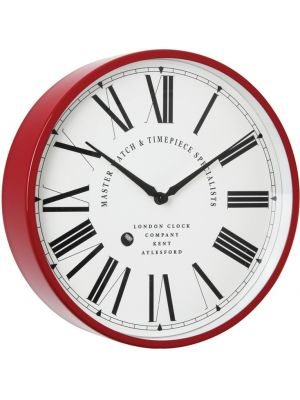Feature Red Cased Clock with Oversized Numerals | 20452