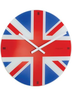Glass Union Jack Wall Clock | 20445