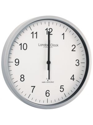 Radio Controlled Office Wall Clock with Silver Resin Case | 36034 AMAZON second listing
