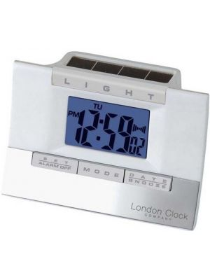 Hybrid Solar White Digital Alarm Clock | 34277
