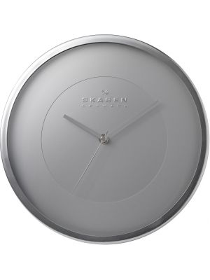 Minimal Round Metal Wall Clock in Brushed Aluminium | CL-WA03MSS