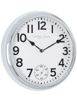 Silver Finish Sweep Movement Wall Clock | 20466