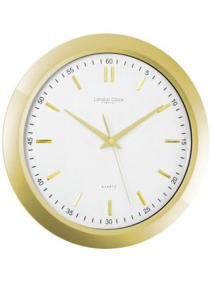 Gold Finish Wall Clock with Sweep Seconds | 24187