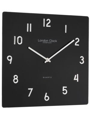 Black Square Glass Wall Clock | 20994