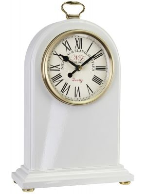 White Arch Top Mantel Clock with Westminster Chime | 03062