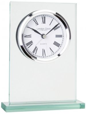 Glass Flat Top Mantel Clock with Alarm | 05160