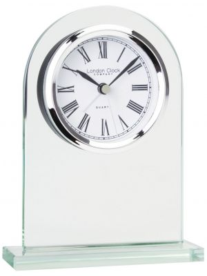 Glass Arch Top Mantel Clock with Roman Dial | 05161