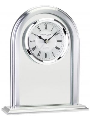 Arch Top Roman Dialed Mantel Clock with Alarm | 03064