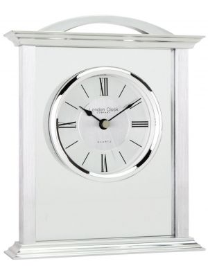 Glass Fronted Mantle with Roman Dial | 17152