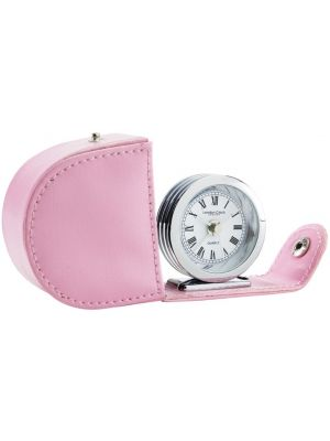 Folding Travelling Alarm Clock in Pink | 32513