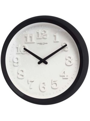 Bold Gloss Black Case Wall Clock with White Dial | 20413
