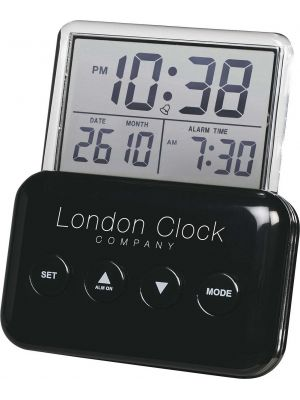 Gloss Black Digital Alarm Clock with See Through Dial | 34244