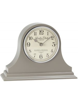 Grey Napoleon Mantel Clock with Cream Arabic Dial | 03100