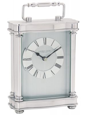 Polished Silver Finish Carriage Clock 03068 | 03068