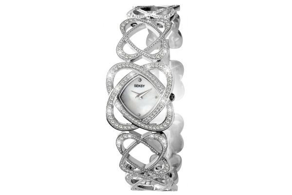 Womens Seksy Crystal Hearts Watch 4109.37