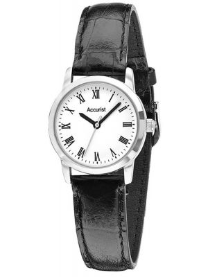 Womens Accurist simple black leather strap LS676WR.01 Watch