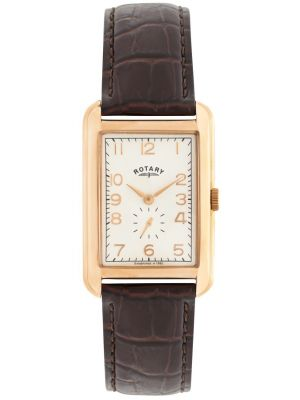 Mens Rotary Portland Rose Gold Traditional Strap gs02699/01 Watch