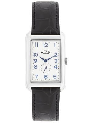 Mens Rotary Portland Rectangular Steel Black Strap gs02697/21 Watch