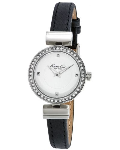 Womens Kenneth Cole Classic crystal set black leather strap kc10024859 Watch