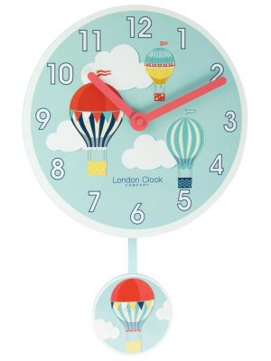 Balloon pendulum wall clock with bold Arabic dial | 02122