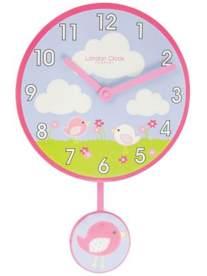 Birds pendulum wall clock with bold Arabic dial | 02123