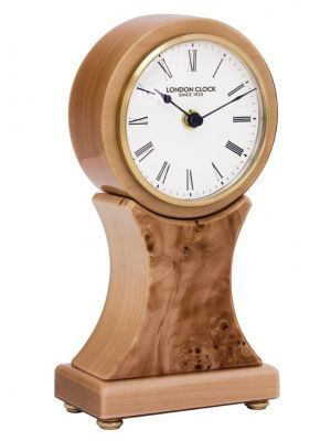 Wooden mantel clock with white dial   06394