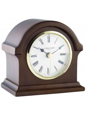 Mahogany finish break arch top mantel clock | 06430