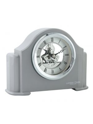Grey piano finish mantel clock | 06423
