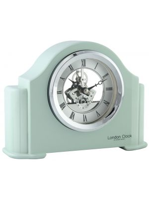 Mint green piano finish mantel clock | 06421