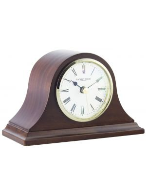 dark wood finish napoleon mantel clock | 06432