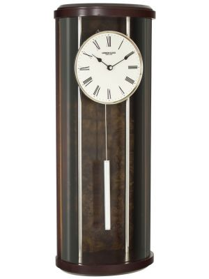Rounded glass pendulum wall clock | 24339