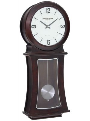 Dark wood finish pendulum wall clock | 24342