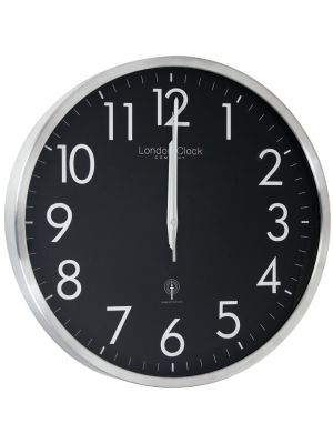 Black and silver radio control wall clock | 24387
