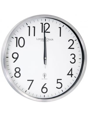 Brushed metal radio control wall clock | 24380