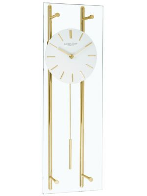 Glass and gold pendulum wall clock | 02119
