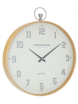 Wooden wall clock with cream Arabic dial | 24394