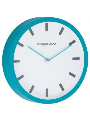 Teal rubber wall clock | 24404