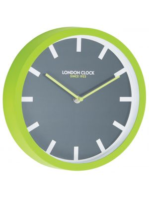 Lime green rubber wall clock | 24405