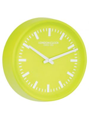 Lime green resin wall clock | 01087