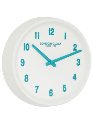 White resin wall clock | 24412