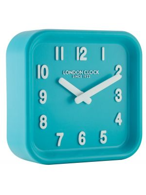 Teal square resin wall clock | 06447