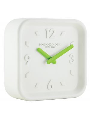White square resin wall clock | 06449